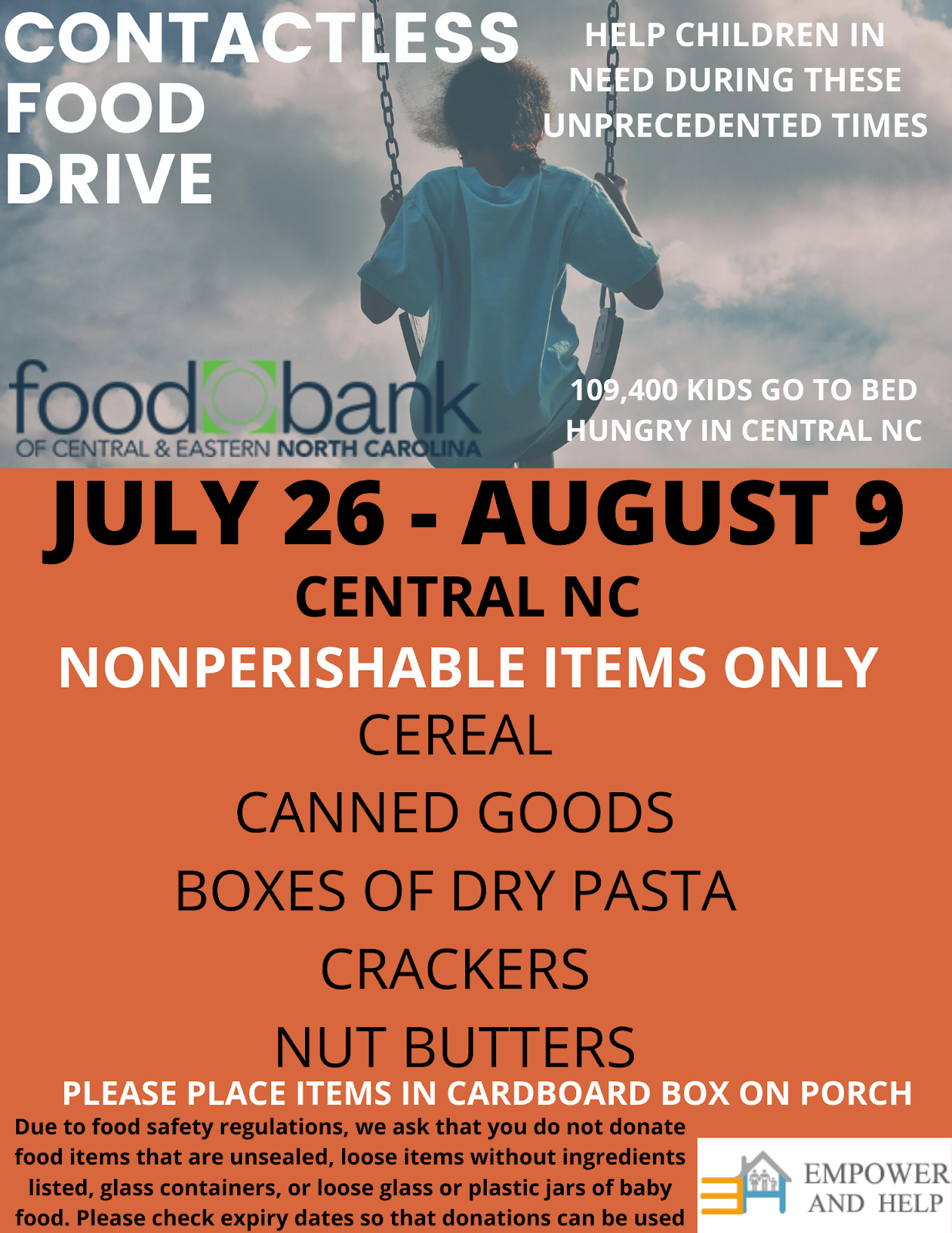 Steps I Took to Conduct Drive for The Food Bank of Central & Eastern NC